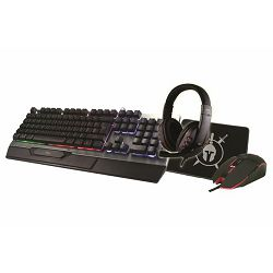 Tipkovnica + miš + slušalice + podloga MS ELITE C500 (gaming set, membranska, pozadinsko osvjetljenje, crna)