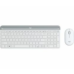 Tipkovnica i miš MK470 Slim, bežična, bijela