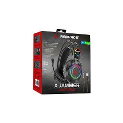 Slušalice RAMPAGE RM-K27 X-JAMMER, mikrofon, PC/PS4/PS5/Xbox, LED, crne
