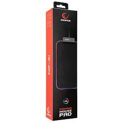 Podloga za miš RAMPAGE MP-21, M, 252x328x3mm, RGB, crna