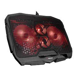 Podloga za hlađenje RAMPAGE AD-RX34 X-FRAME, za laptop, 4 LED ventilatora
