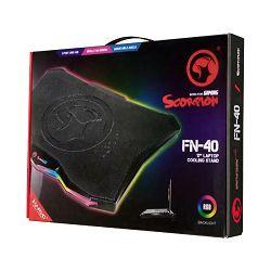 """Podloga za hlađenje MARVO SCORPION FN-40, za laptop, 17"""" RGB"""