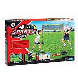 Sportski set 4 u 1 (odbojka, tenis, frizbi, badminton)