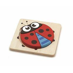 Igračka - drvene puzzle 4 dijela životinja