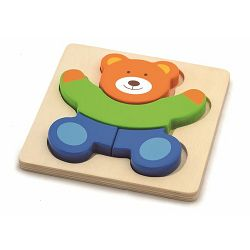 Igračka - drvene puzzle 4 dijela medvjedić