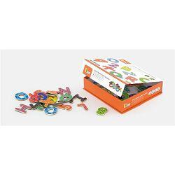Igračka drvena slova i brojevi s magnetima 77kom