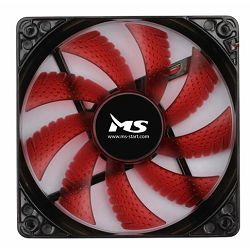 Ventilator za PC MS COOL 12cm crveni LED