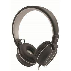 MS FEVER_2 slušalice s mikrofonom, sivo-bijela