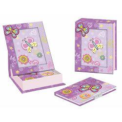 Dnevnik s ključićem u foto kutiji leptir ljubičasti