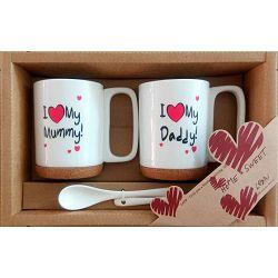 Set šalica I love mummy/daddy
