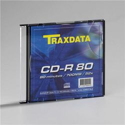 CD TRAXDATA CD-R slim box - 1 kom