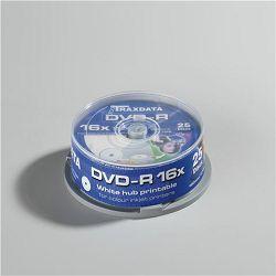 TRAXDATA OPTIČKI MEDIJ DVD-R 16X CAKE25 WHITE FULL PRINTABLE
