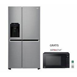 LG hladnjak GSL760PZXV + mikrovalna pećnica MH6336GIB crna