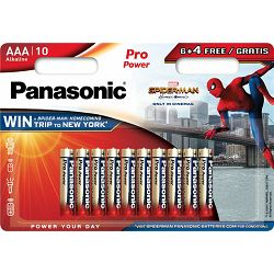 Panasonic baterije LR03PPG/10BW 6+4F Spider-Man