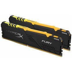 Memorija Kingston DDR4 16GB 2666MHz (2x8GB) HyperX Fury Black RGB