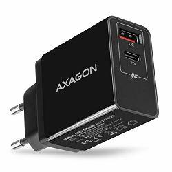 AXAGON ACU-PQ22 zidni punjač 1 x QC 3.0 i 1 x Type C, 22W, crni
