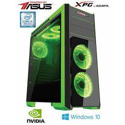 Stolno računalo MSGW Gamer Hulk i104 (i5, 16GB RAM, 256GB SSD, NVIDIA 6GB, Win10, 500W)