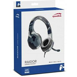 Slušalice SPEEDLINK RAIDOR Stereo Headset, za PS4, plave
