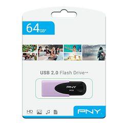 USB memorija PNY 64GB ATTACHE 2.0 pastel ljubičasta
