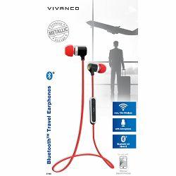 Slušalice Vivanco TRAVELLER AIR 4, bežične za uši s mikrofonom, Bluetooth metalik crvene