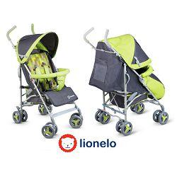Lionelo dječja kolica ELIA zelena + zaštita od kiše, komaraca, prekrivač za noge