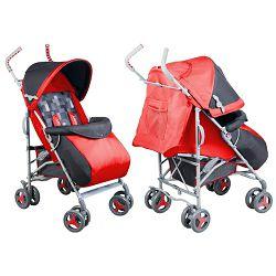 Lionelo dječja kolica ELIA crvena + zaštita od kiše, komaraca, prekrivač za noge