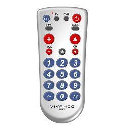 Daljinski upravljač VIVANCO 2 in1 TV/DVB univerzalni srebrni