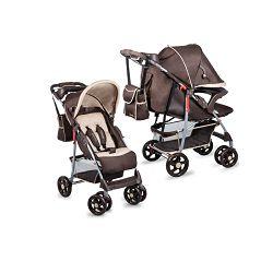 Lionelo dječja kolica EMMA PLUS smeđa + torba za mamu