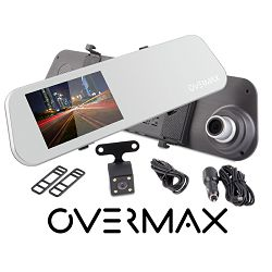 Video kamera za auto OVERMAX prednja + stražnja parking, FullHD Camroad Mirror