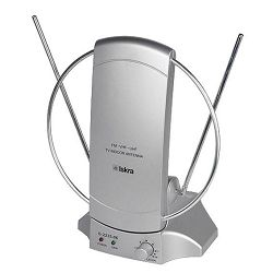 Iskra Antena sobna sa pojačalom, UHF/VHF, srebrna - G2235-06