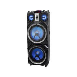 Party zvučnik TREVI  XF 4000 DJ bež (karaoke disco rasvjeta, mikrofon, baterija, drvene)