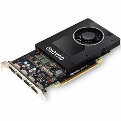 Grafička kartica NVIDIA Quadro P2000 GDDR5 5GB/160bit, 1024 CUDA® Cores, PCI-E 3.0 x16, 4xDP, Cooler, Single Slot