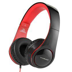 Slušalice VIVANCO SR 660, mikrofon, crno - crvene
