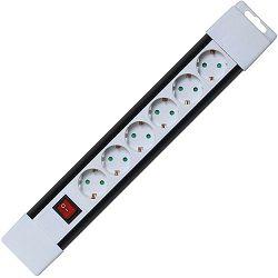 home Produžni kabel, 6 utičnica, prekidač, 1,0mm², 2 met, bijeli - PNV 06K/WH