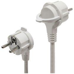 Produžni kabel HOME 4 utičnice, 3 x 1,0mm², 5met, bijeli - NV 04TK-5/W
