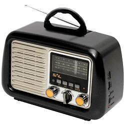Prijenosni zvučnik SAL Retro radio + BT bežični zvučnik (Bluetooth, baterija 18h)
