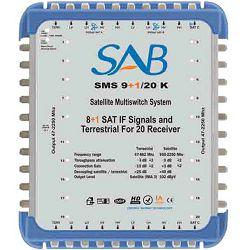 SAB Multišalter 2 satelita na 20 utičnica, kaskadni - MS 9+1/20 C