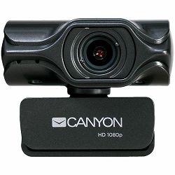 Web kamera CANYON 2k Ultra full HD 3.2Mega, USB2.0 connector, built-in MIC, Manual focus, IC SN5262, Sensor Aptina 0330, viewing angle 80°, with tripod, Grey