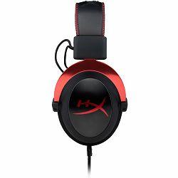 Slušalice s mikrofonom KINGSTON HyperX Gaming, Cloud II Pro, USB/3.5mm, crvene