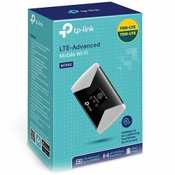 Mobile Router TP-Link 300Mbps 4G LTE-Advanced Mobile Wi-Fi, AC1200 selectable Dual Band Wi-Fi, internal 4G Modem, SIM card slot, micro SD card slot, 1.4 inch TFT color screen display, 3000mAH recharge