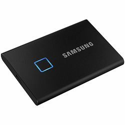 Vanjski SSD SAMSUNG T7 Touch 500GB External, Read/Write: 1050/1000 MB/s, USB Type C-to-C and Type C-to-A cables, USB 3.2, black