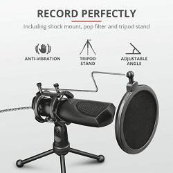 Mikrofon TRUST GXT232 Mantis, streaming, USB, crni