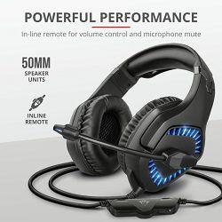 Slušalice + mikrofon TRUST GXT 460 Varzz, LED, 3.5mm, USB, stereo