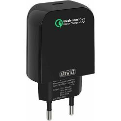 Adapter napajanja ARTWIZZ POWERPLUG USB-C quickcharge 15W Pro crni