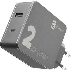 Adapter CELLULARLINE 2 port - USB i Type-C 42W