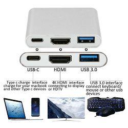 USB Hub ASONIC USB Tip C na HDMI, USB 3.0, USB Tip C