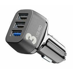 Auto punjač za mobitel CELLULARLINE Multipower 3 Pro