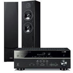 Set AV receiver YAMAHA RX-V385 crni + zvučnici YAMAHA NS-F51 crni
