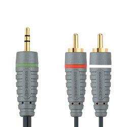 Kabel BANDRIDGE BAL3402 3.5MM - 2 X RCA, audio kabel, 2.0M