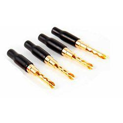BANANA BR GOLD plated Z-plug crna